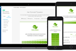 SurveyMonkey CX screenshot: CX surveys are quick, clean, and branded for your business. Change colors, upload your logo, customize language, and edit questions in a fast and fun interface.