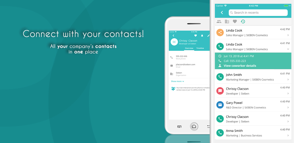 Connect with your contacts - Pobuca Connect