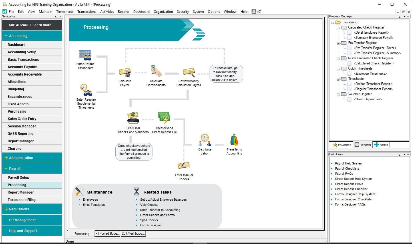 MIP Fund Accounting Software - Payroll