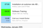 Schedule it Screenshot: Training courses, tasks, and employee holiday can all be managed in Schedule It