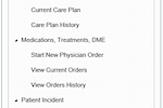 MedBillit screenshot: Care plans, medications, treatments, incidents, and more can be recorded and tracked