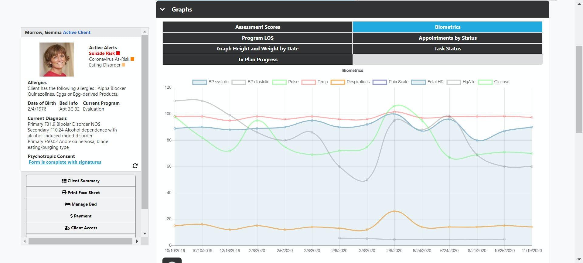 Aura Software - Vitals Trending