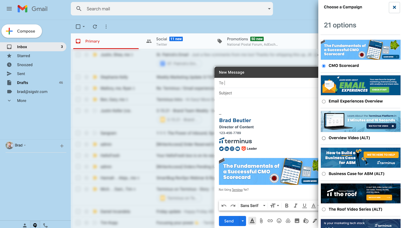 Terminus Software - Email Experiences