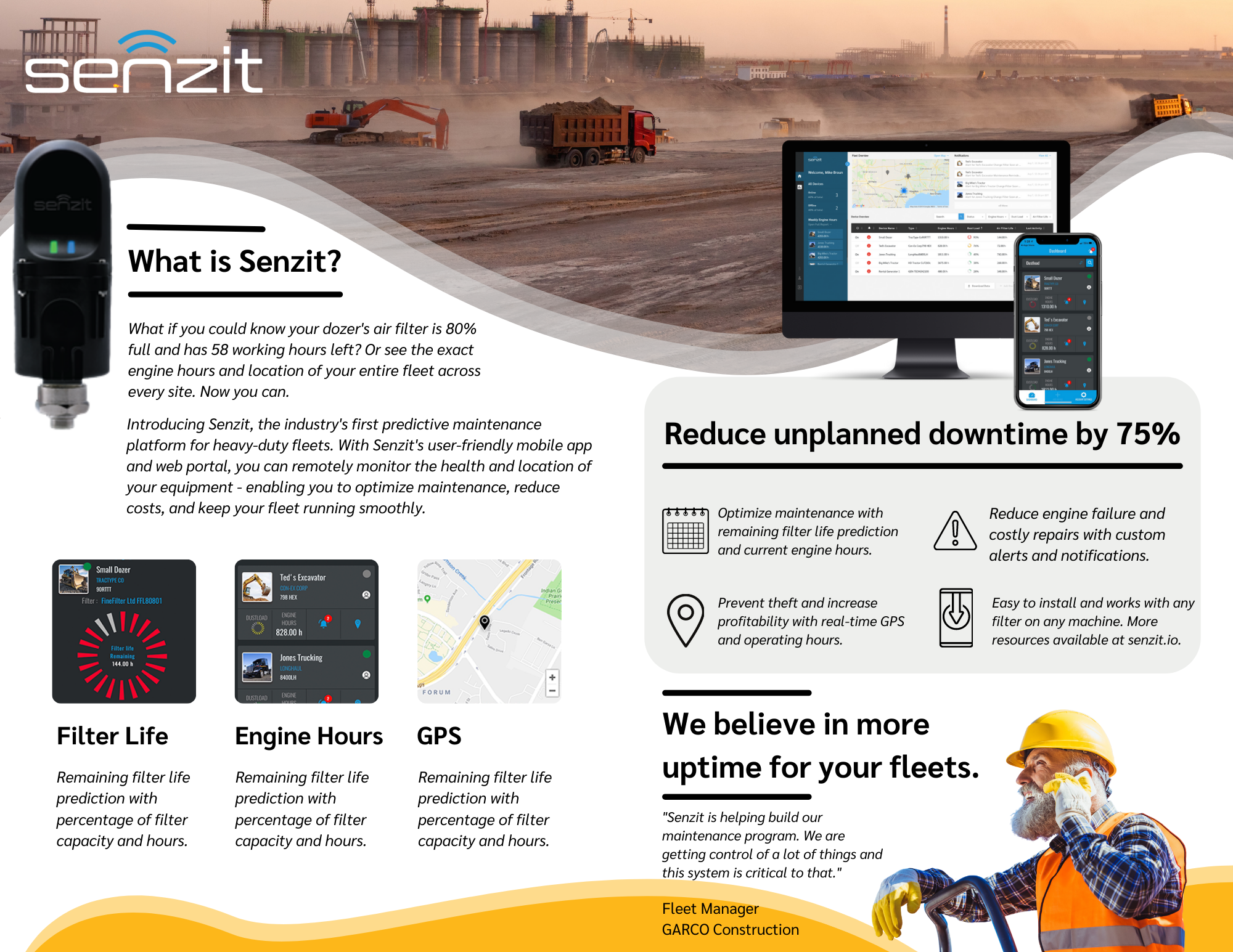 Senzit brochure and product overview.