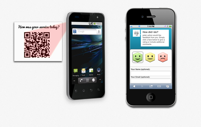 Feedback through any mobile device