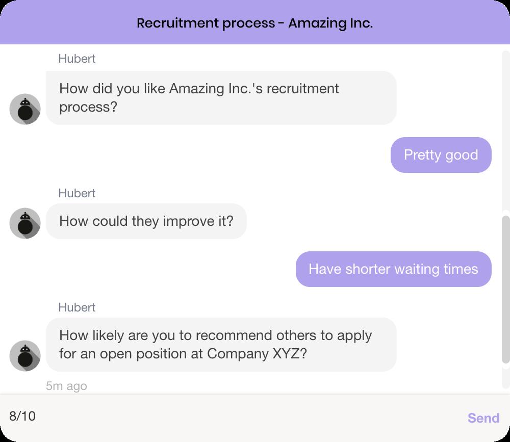 Hubert.ai recruitment process