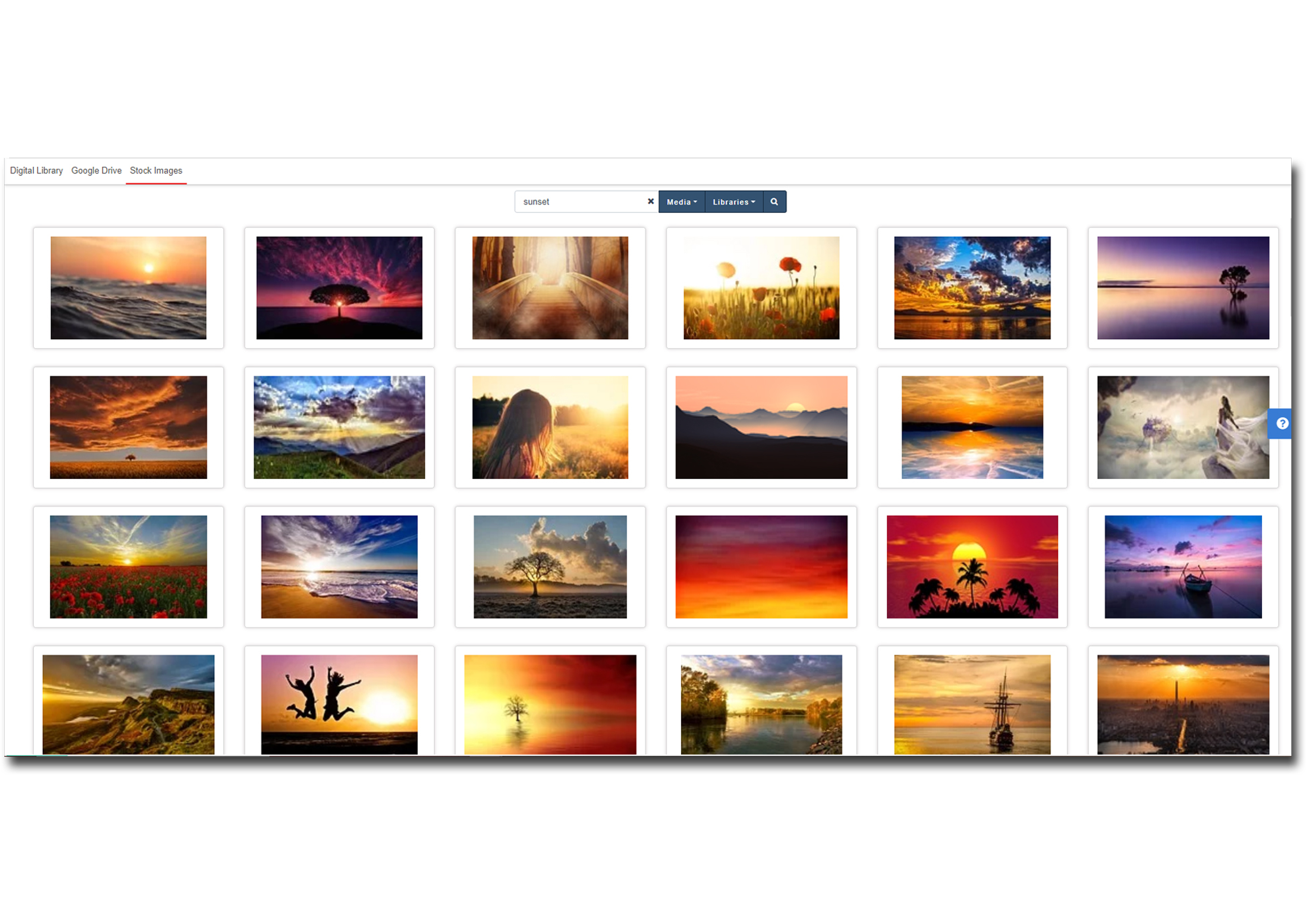 Add images to your post from a range of hundreds of thousands of free-to-use stock images from the stock image library.