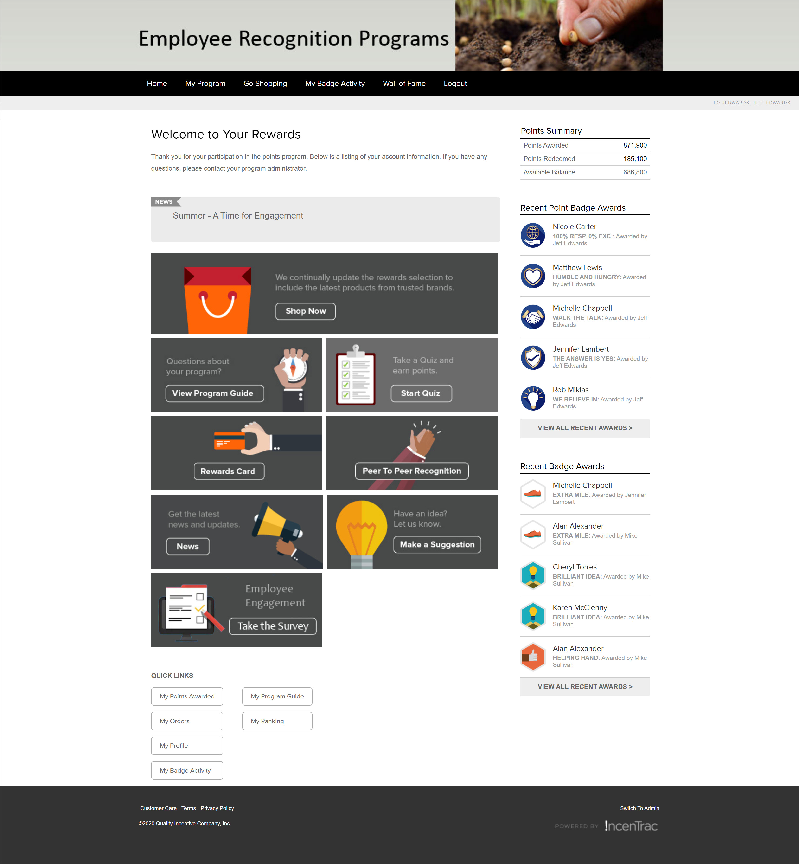 IncenTrac® provides a customized platform designed to comprehensively address any and all recognition initiatives.  IncenTrac® features responsive design, so it renders correctly regardless of the device being used for access.