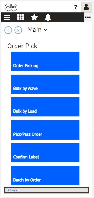 Körber K.Motion WMS Order Pick