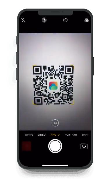 Acrobits QR code scanning screenshot