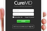 CureMD screenshot: CureMD - Login page