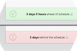 SprintGround screenshot: SprintGround creates color-coded notifications to keep users updated on their project's progress