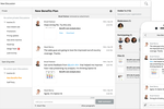 Jostle screenshot: Escape your crowded email inbox with discussions.