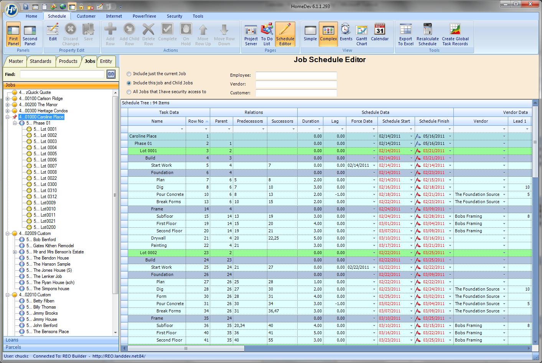 HomeDev Pro scheduling