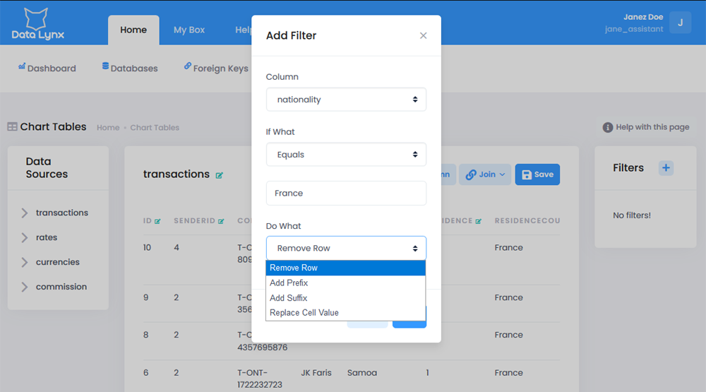DataLynx filter