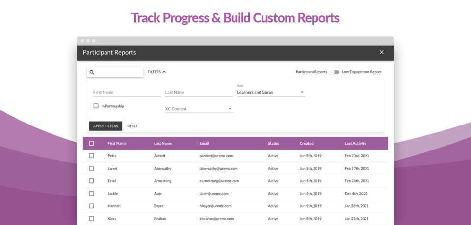 eMentorConnect Software - Track progress