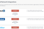 Contactually screenshot: Connect social media accounts to track conversations across multiple platforms.