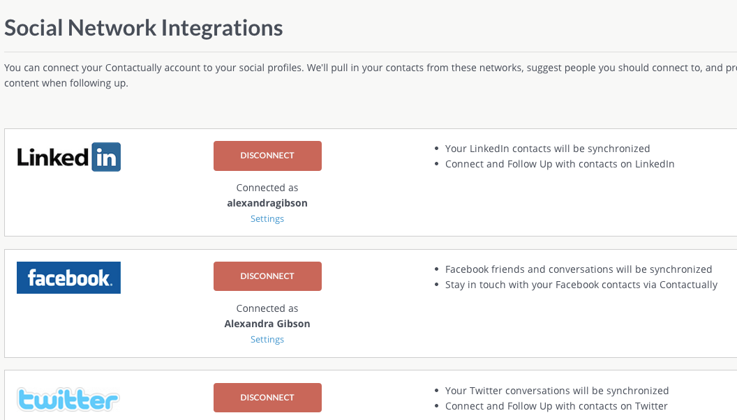 Connect social media accounts to track conversations across multiple platforms.