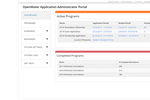 OpenWater screenshot: Administrators can view the entire fellowship nomination and award process in one dashboard