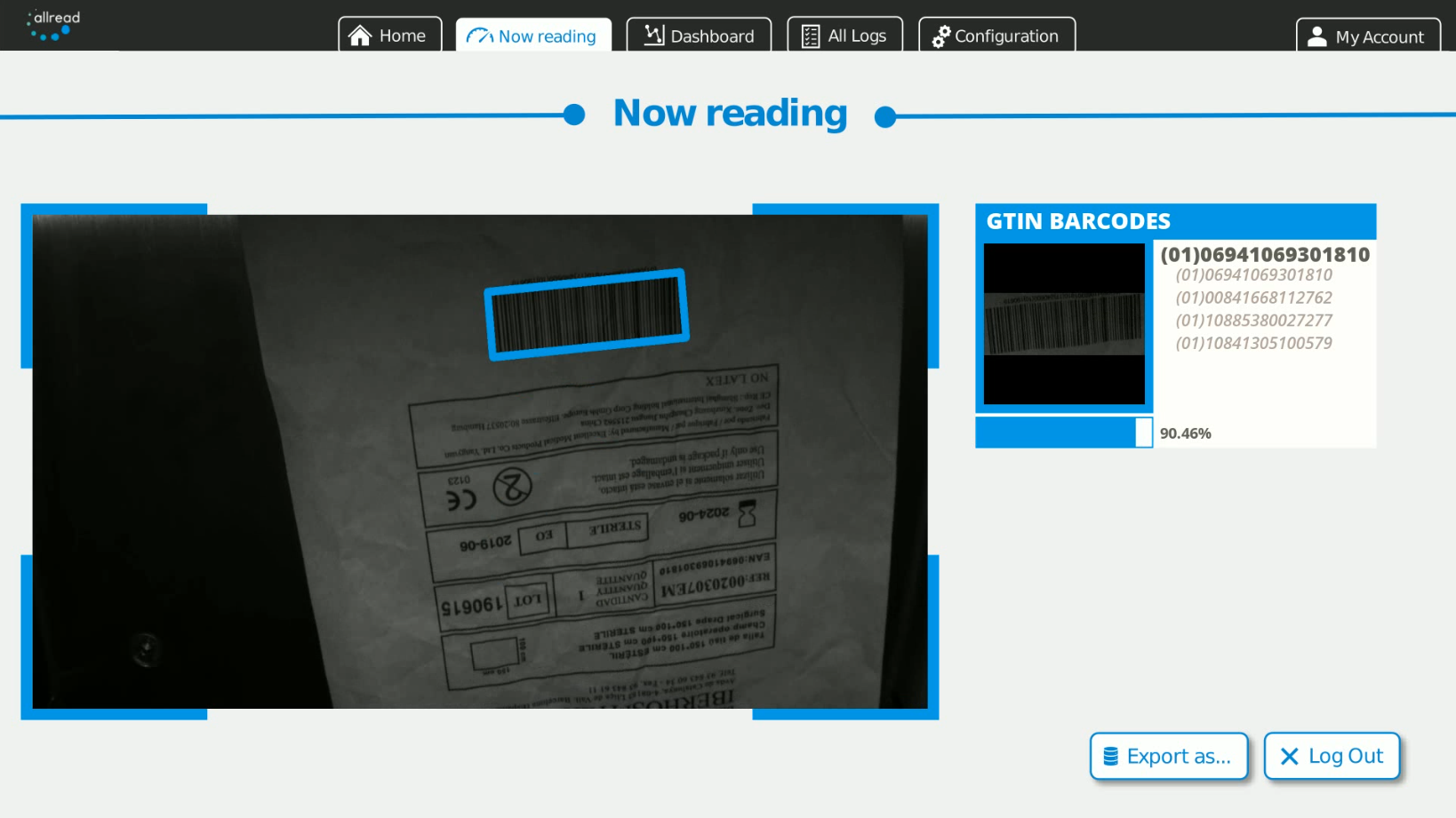Barcodes automatic reading with Artificial Inteligence in challenging operational environments.