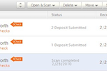 Earth Class Mail screenshot: Intelligent Notifications - the app detects and notifies you when a check is present.