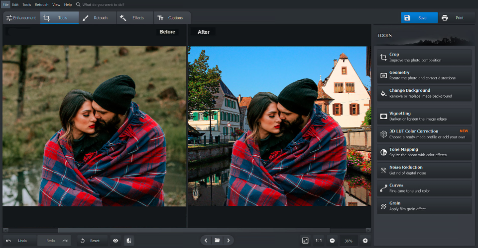 PhotoWorks Software - PhotoWorks editing tools