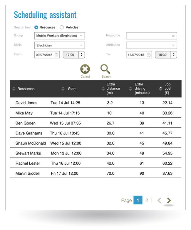 BigChange Software - Scheduling assistant