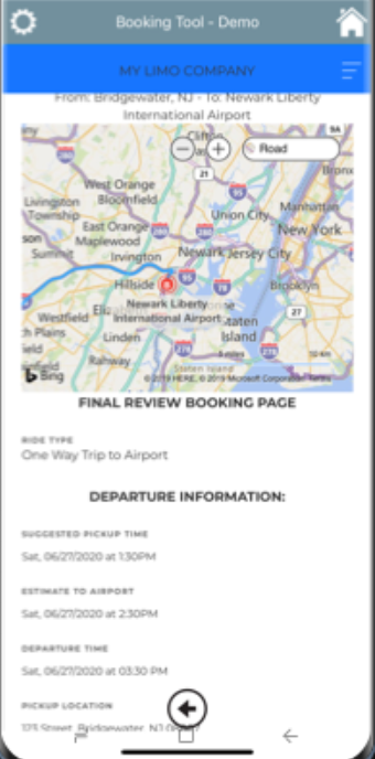 The Booking Tool Software - The Booking Tool final review booking page