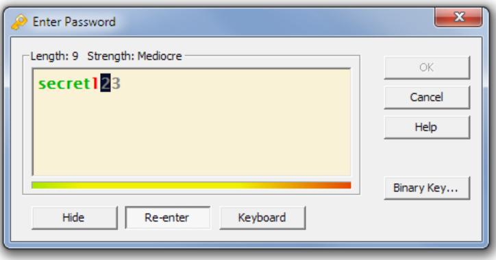 Kryptel enter password