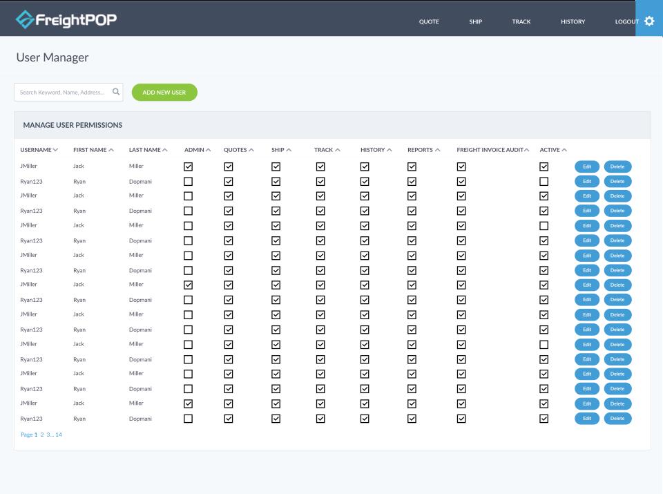 FreightPOP Logiciel - 2
