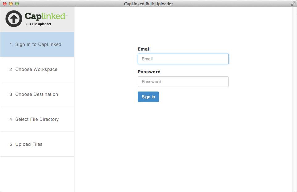 CapLinked Software - Bulk uploading %>
