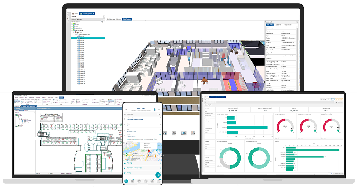 IWMS with IoT/BIM/CAD integrated