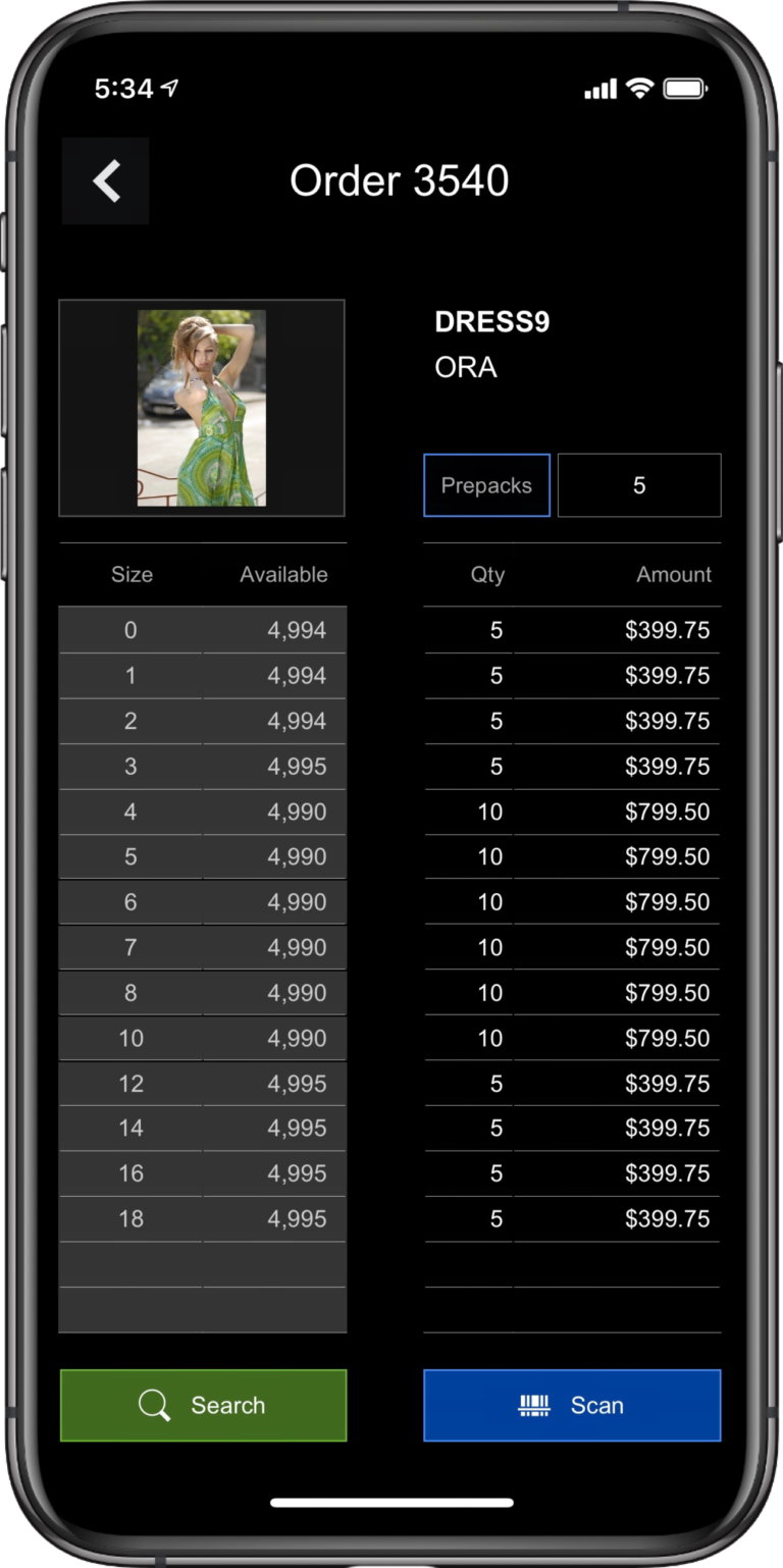 ApparelMagic order processing with iPhone