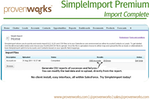 SimpleImport Premium screenshot: Import Complete