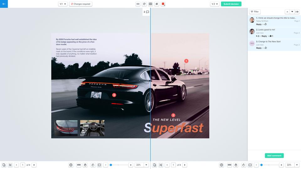Ziflow compare content