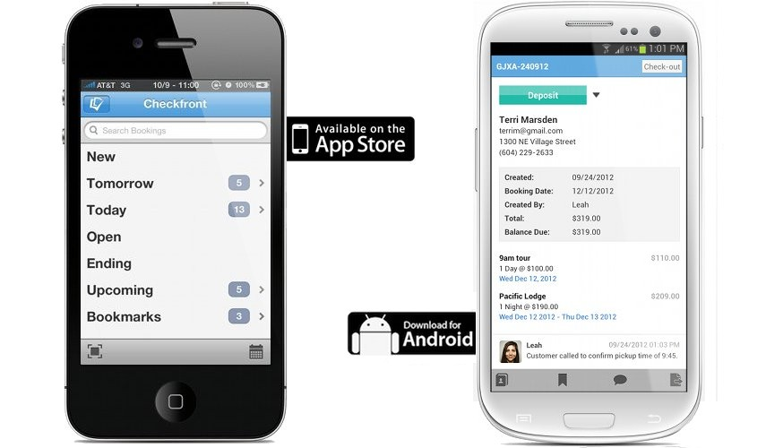iPhone, Android Booking App