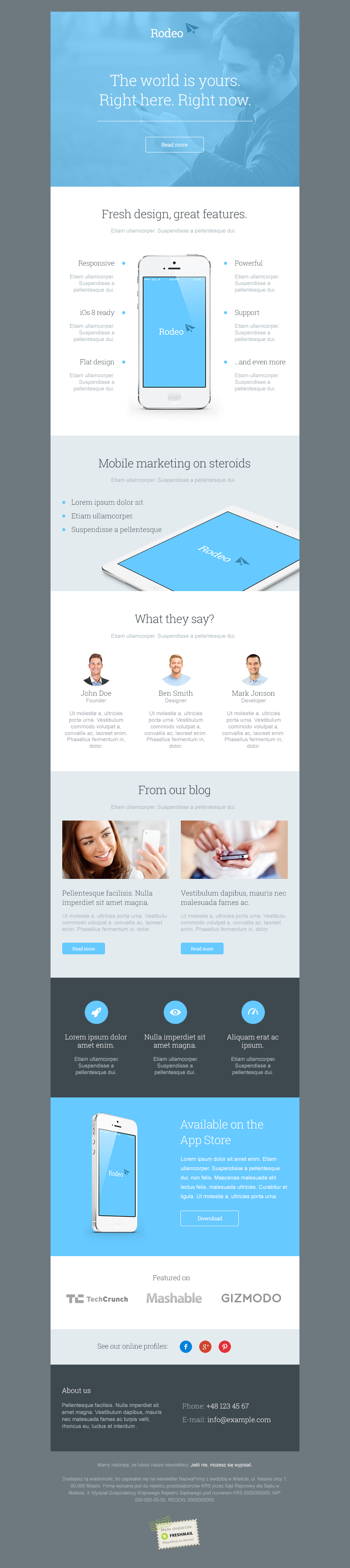 Rodeo Newsletter Template