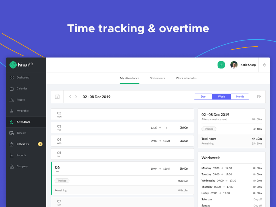 time tracking & overtime