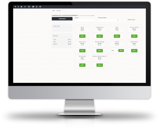 An integrated Point of Sale (POS) system enables the processing of secured online payments via the Authorize.net gateway, full product logic configurations and accounting reporting on inventory, sales etc