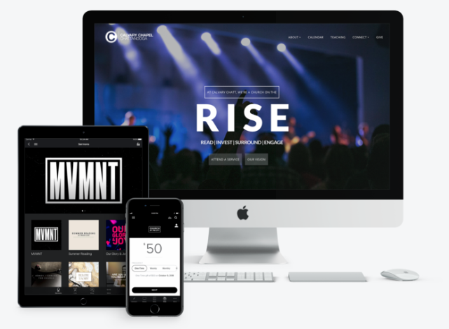 Create a customized website and mobile app for your church