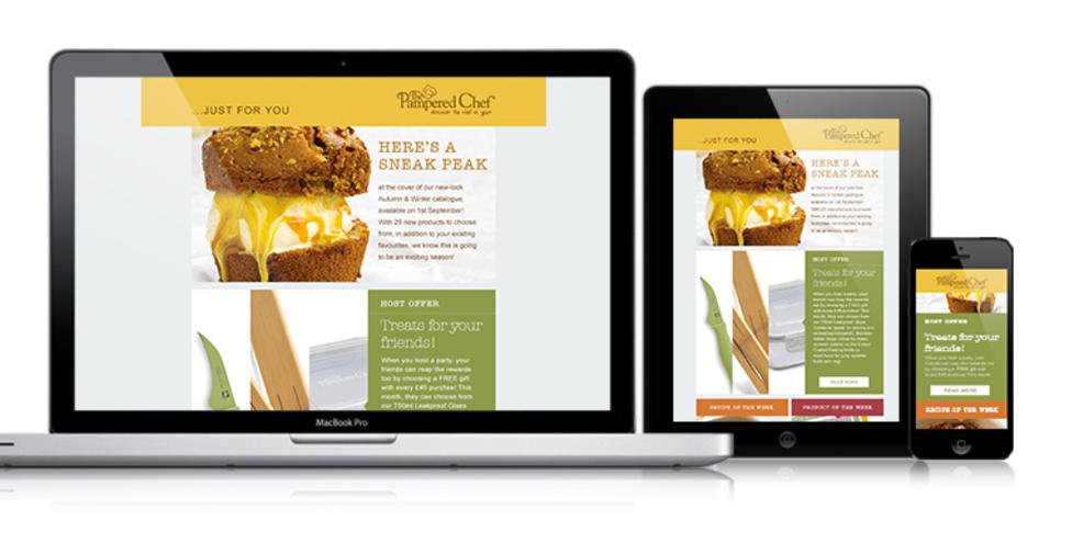 Design responsive marketing emails for desktop, laptop, tablet or mobile