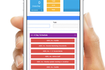 ABIS screenshot: Access schedules via mobile device to stay on track with projects