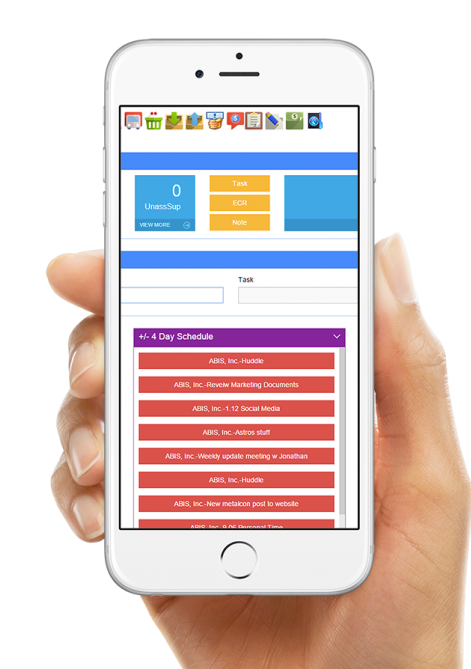Access schedules via mobile device to stay on track with projects