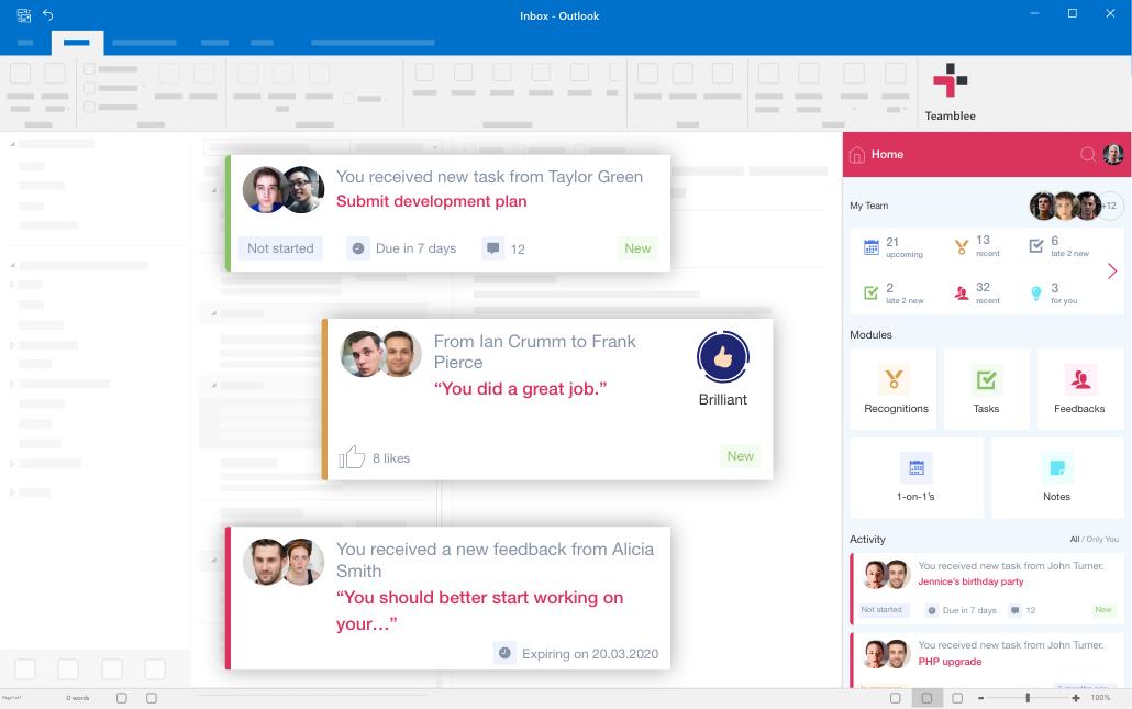 Teamblee Outlook integration