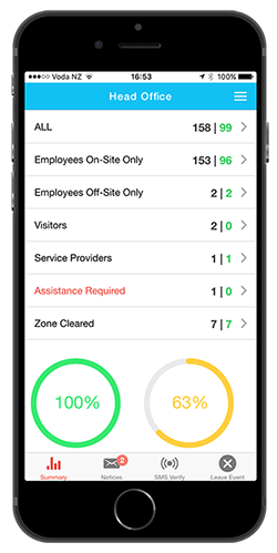 WolEvac is the platform's evacuation management tool for mobile and tablet devices
