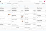 Lawcus screenshot: Kanban Boards Lawcus gives you a kanban style bird's-eye view to quickly see all your matters and instantly know what needs your attention. And if you prefer lists to boards, you can switch to the traditional list view.