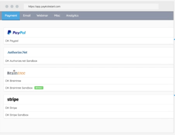 Built-in payment integrations