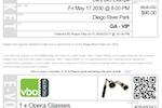 Captura de pantalla de VBO Tickets: Print-at-home tickets
