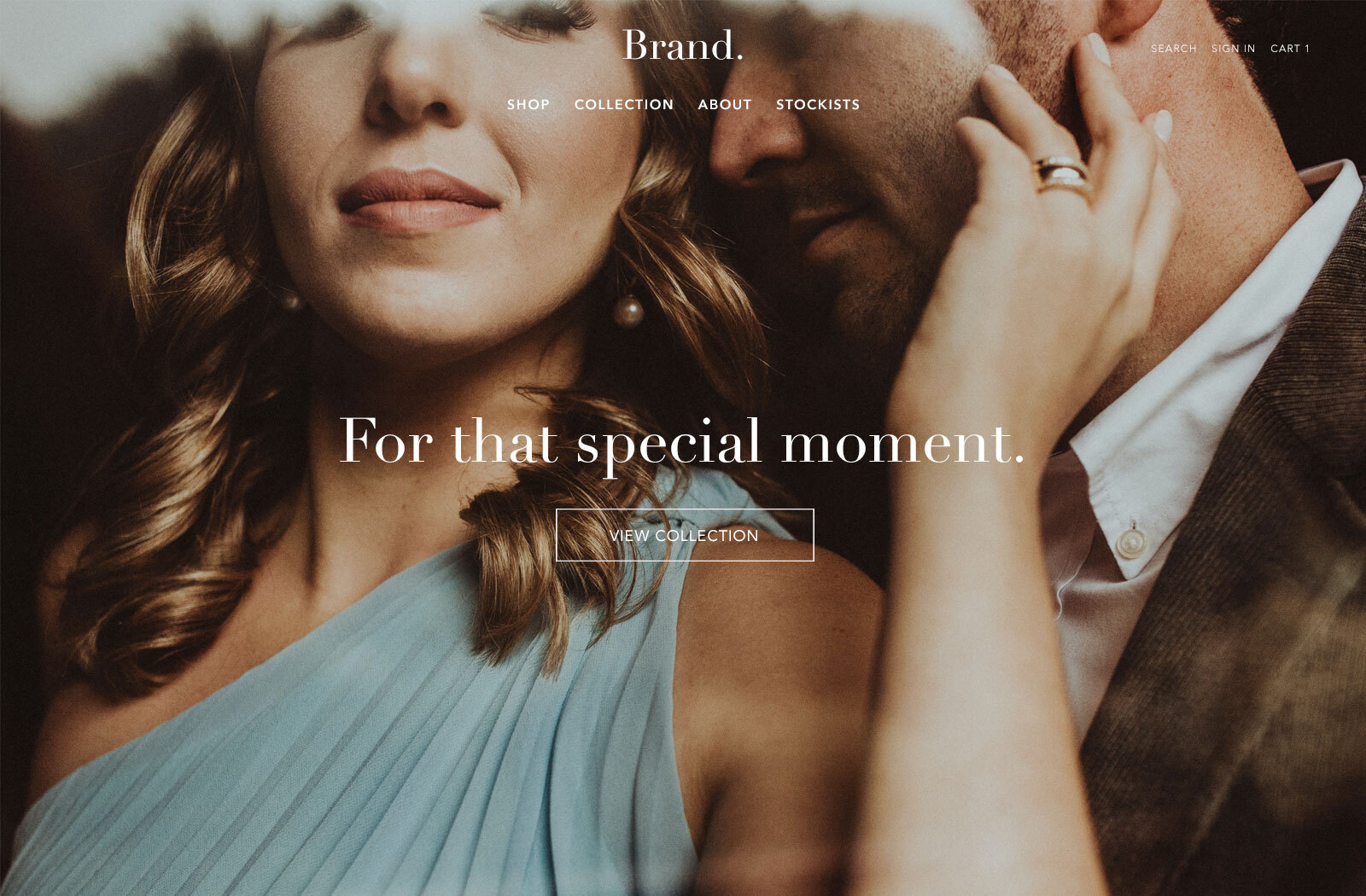 Online stores for jewelry brands.