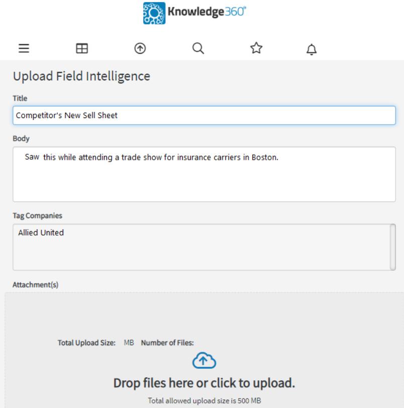 Knowledge360 upload data